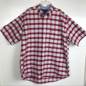 Tommy Hilfiger L Cotton Madras Plaid Logo Shirt
